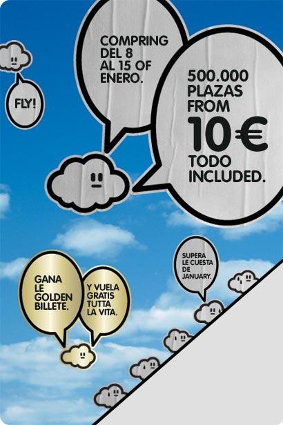 Vueling - 500.000 plazas desde 10 euros trayecto.