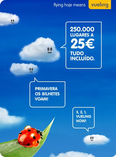Vueling: 250.000 lugares a 25€ tudo incluído